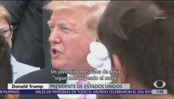 Niño pregunta a Trump sobre muro durante fiesta de Pascua