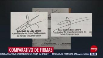 Foto: PAN pone en duda firma de senadora Sasil de León