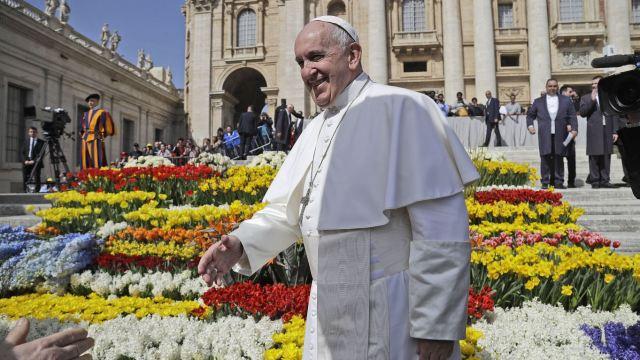 Fotografía del papa Francisco, 27 abril 2019