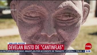 FOTO: Polémico artesano potosino devela busto de 'Cantinflas', 18 ABRIL 2019