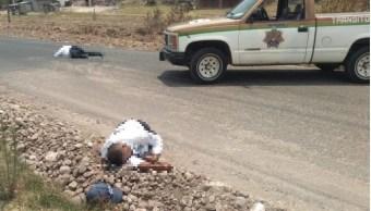 Foto: Matan a policías en Oaxaca, 29 de abril 2019. Twitter @OaxacaesNoticia