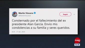 Presidente de Perú, consternado por suicidio de Alan García