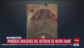Foto: Primeras imágenes del interior de Notre Dame tras incendio