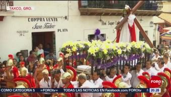 FOTO: Procesión de los Cristos en Taxco, 19 ABRIL 2019