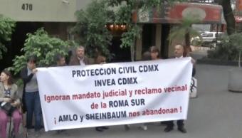 Foto: Vecinos protesta en la colonia Roma Sur, 29 de abril de 2019, Ciudad de México