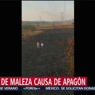 Quema de maleza causa apagón en Península de Yucatán