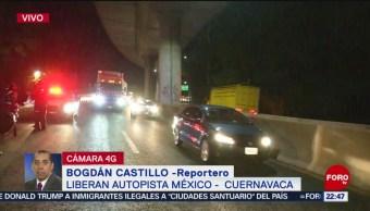 Foto: Reabren Circulación En La Autopista México- Cuernavaca 12 de Abril 2019