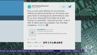 Reactivan cuenta de Twitter donde denunciaron a Armando Vega Gil