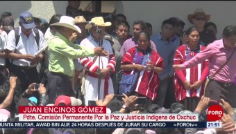 FOTO: Realizan primeras elecciones por usos y costumbres en Oxchuc, Chiapas, 14 de abril 2019