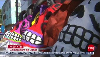 FOTO:Realizan tradicional quema de judas en el mercado de Sonora, 21 ABRIL 2019