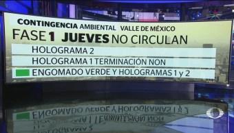 Foto: Horario Hoy No Circula Contingencia Ambiental Jueves 17 de Abril 2019