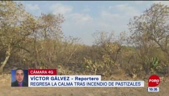 Regresa la calma a Tlalpan tras incendio de pastizales