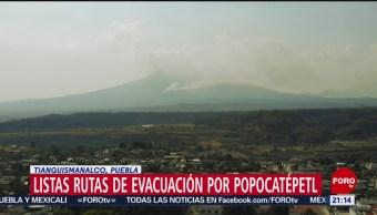 Foto: Militares y autoridades de Protección Civil repararon las rutas de evacuación del volcán Popocatépetl