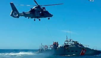 Foto: vigilancia en zonas marinas mexicanas, 5 de abril 2019. Facebook-Secretaría de Marina.