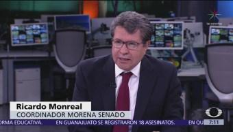 Ricardo Monreal explica su propuesta para aumentar cifra de ministros