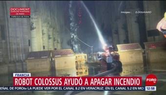 Robot bombero 'Colossus', héroe durante incendio en Notre Dame