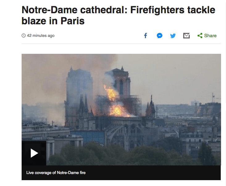 'Catedral de Notre Dame: Bomberos luchan contra las llamaradas en Paris'