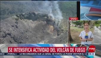 FOTO: Se intensificó actividad el Volcán de Fuego, en Colima, 27 ABRIL 2019