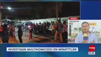 Se mantiene investigación por multihomicidio en Minatitlán, Veracruz