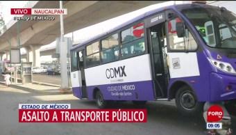 Se registra asalto a transporte público en Naucalpan, Edomex