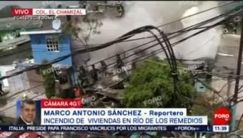 FOTO: Se registra fuerte incendio de viviendas en colonia Chamizal, 19 ABRIL 2019