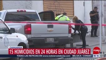 FOTO:Se registran 15 homicidios en 24 horas en Ciudad Juárez, Chihuahua, 19 ABRIL 2019