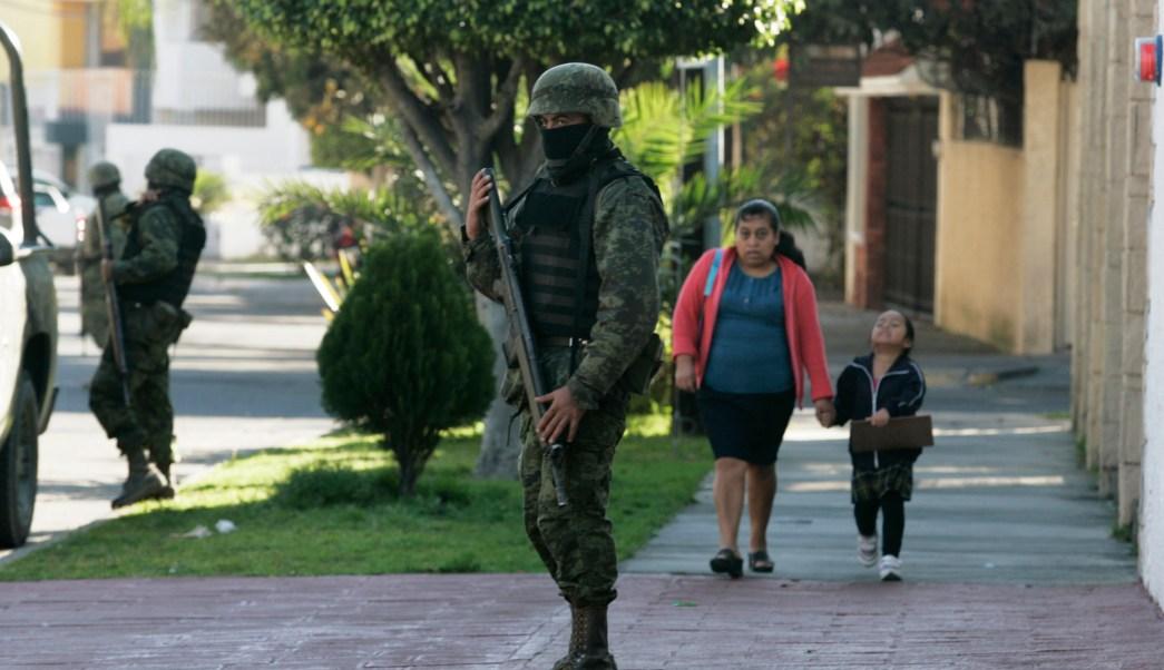 Foto: Fuerzas de seguridad federal permanecen en la calles de Guadalajara, 5 abril 2019