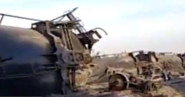 Descarrilan seis carros tanque con miel en Silao, Guanajuato