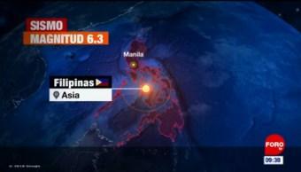 Sismo deja al menos 5 muertos en Filipinas