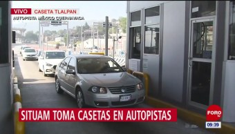 Situam toma caseta en autopista México-Cuernavaca, otra vez