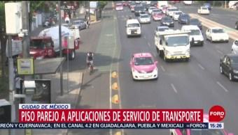 Foto: Taxistas y choferes que trabajen en aplicaciones móviles, deberán pasar revista