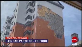 Todo Pasa En China: Les cae parte del edificio