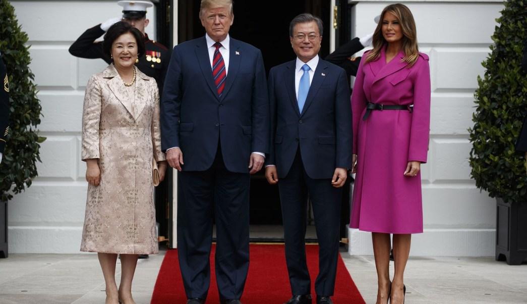 Foto: El presidente Donald Trump se reúne con el líder de Corea del Sur, Moon Jae-in, en la Casa Blanca, 11 abril 2019
