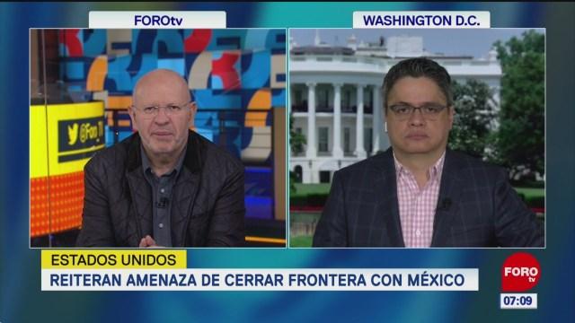 Trump reitera amenaza de cerrar frontera con México