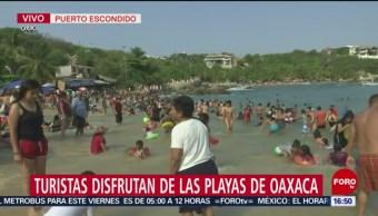 FOTO: Turistas disfrutan de las playas de Oaxaca, 19 ABRIL 2019