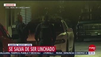 FOTO: Un hombre se salva de ser linchado en Nuevo León, 27 ABRIL 2019
