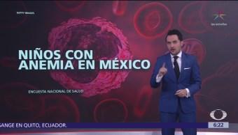 Uno de cada cuatro niños menores de 4 años tiene anemia en México