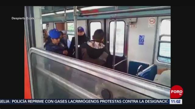 Vendedores ambulantes golpean a policías en el Metro CDMX