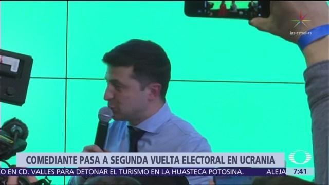 Volodymyr Zelensky, comediante, aventaja en primera vuelta de elección presidencial