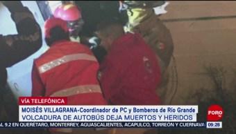 FOTO: Vuelca camión de pasajeros en Zacatecas; hay al menos 11 muertos, 27 ABRIL 2019