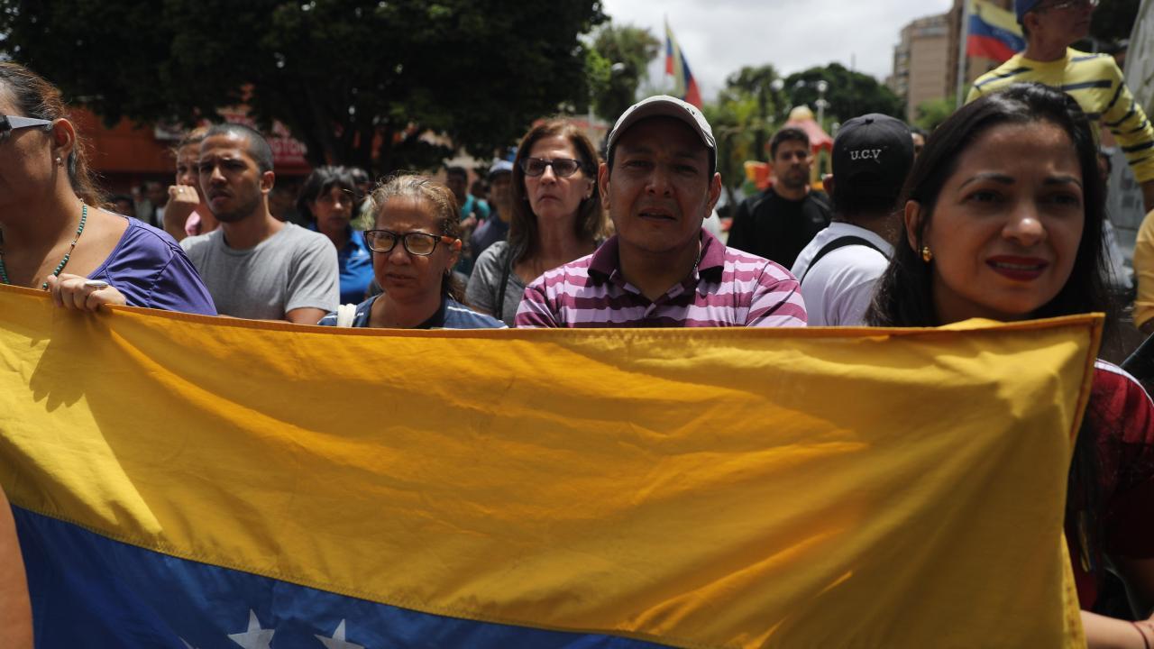 Foto: El presidente del Parlamento de Venezuela, Juan Guaidó, pidió a la población que marche pacíficamente hacia los cuarteles y pida a los militares, 4 mayo 2019