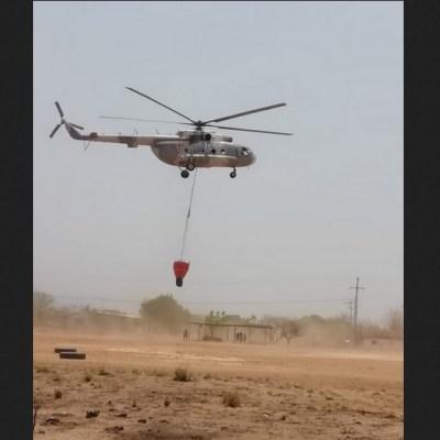 Helicóptero de la Marina desplomó en Querétaro; buscan a tripulación