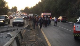 Foto: Accidente en Michoacán, 6 de mayo 2019. Twitter @SALUDMICH