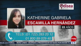 Activan Alerta para localizar a Katherine Gabriela Escamilla Hernández