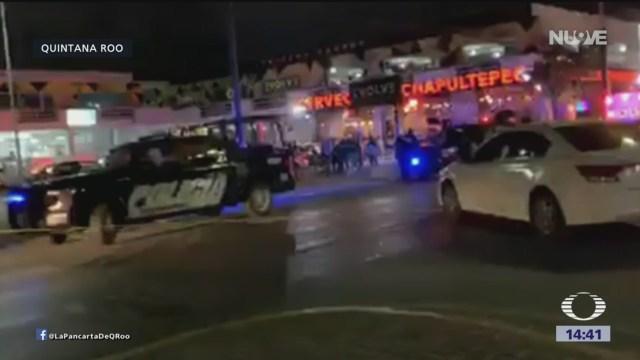 Foto: Activan código rojo tras ataque en bar de Playa del Carmen
