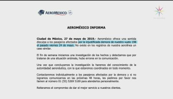 Foto: Aeroméxico Retrasado Josefa González Blanco Semarnat 27 Mayo 2019