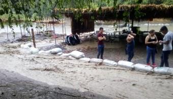 Foto: Afectaciones por lluvias en Chiapas, 18 de mayo 2019. Twitter @pcivilchiapas