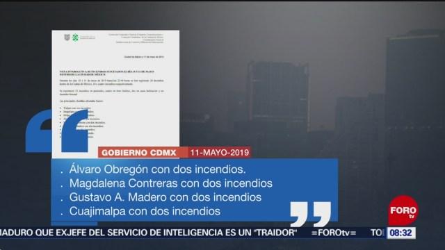 FOTO: Al menos 20 incendios en la CDMX en dos días, 12 MAYO 2019
