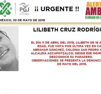 Alerta Amber: Ayuda a localizar a Lilibeth Cruz Rodríguez