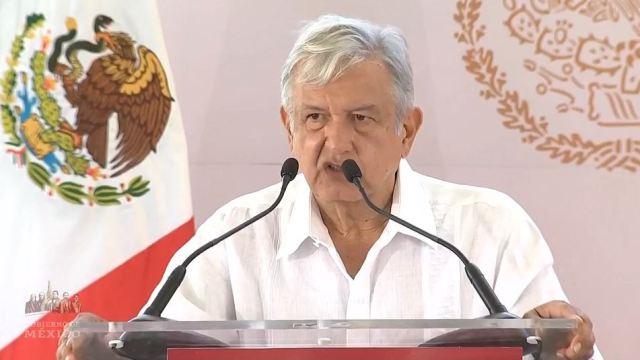 Foto: AMLO presenta en Nayarit los Programas Integrales de Bienestar y Mejoramiento Urbano, el 12 de mayo de 2019 (Gobierno de México YouTube)
